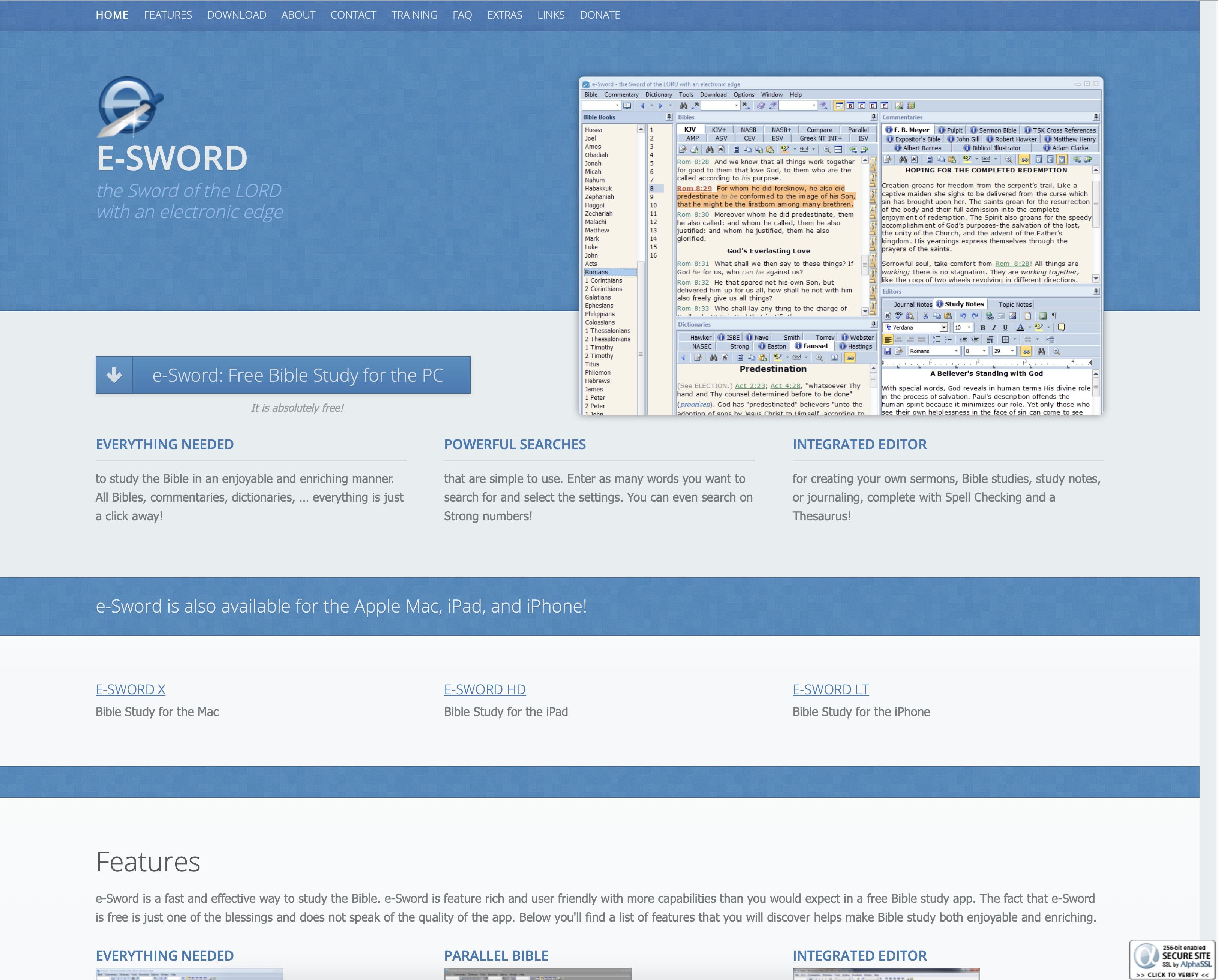 E-Sword, KJV bible software. Bijbelstudie software KJV. Software om de King James Bible te bestuderen