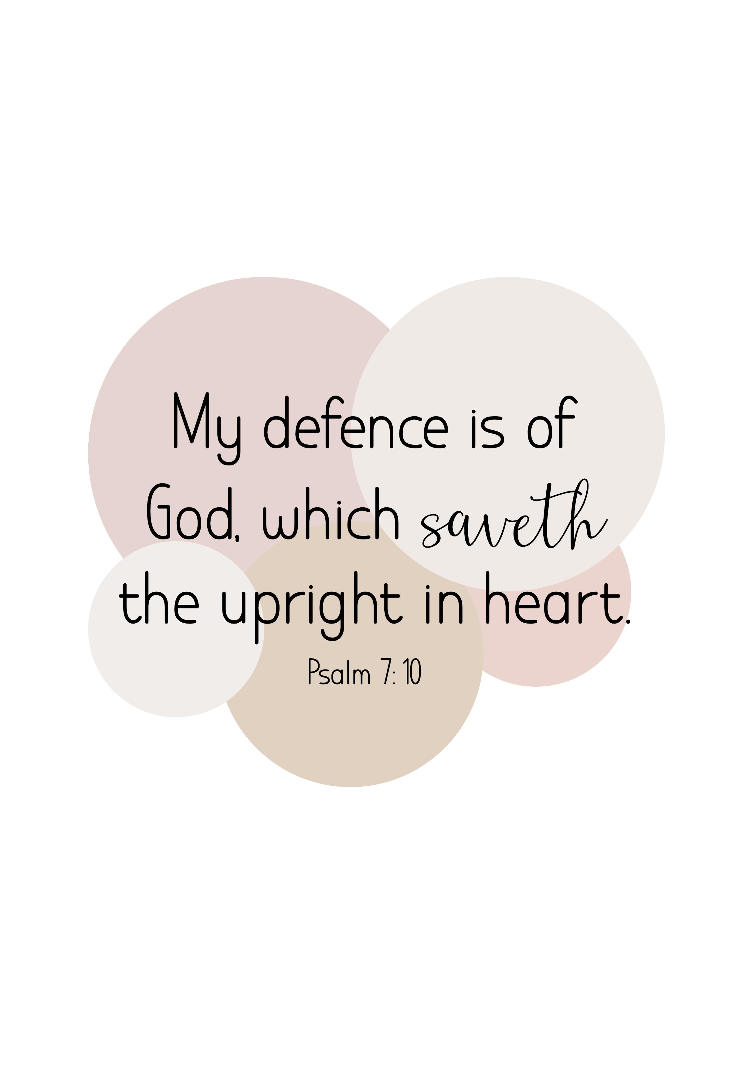 Psalm 7: 10, Poster, JPG, King James Bible 1611 ministries Nederland